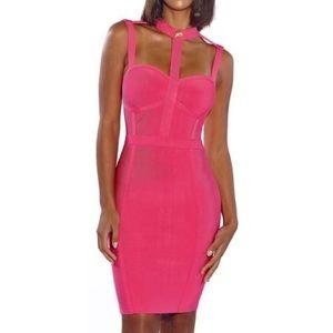 Brand New ⭐️ Rose color bandage dress